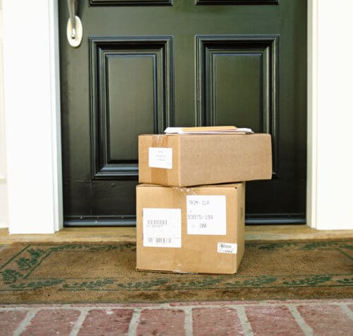 Home security includes doorstep deliveries